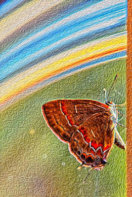 Playroom Butterfly Art Print by Bill Tiepelman