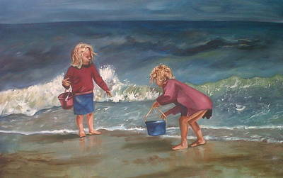 Playtime At The Beach Art Print by Elani Van der Merwe