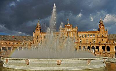 Photograph - Plaza De Espana - Seville by Juergen Weiss