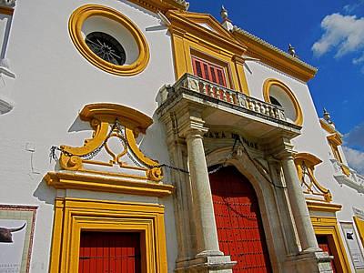 Photograph - Plaza De Toros De La Maestranza - Seville  by Juergen Weiss