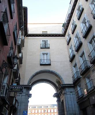 Photograph - Plaza Mayor Arched Entrance In Madrid Spain by John Shiron