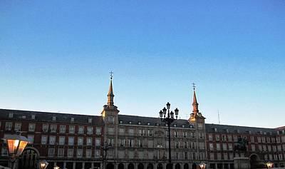 Photograph - Plaza Mayor At Sundown In Madrid Spain by John Shiron
