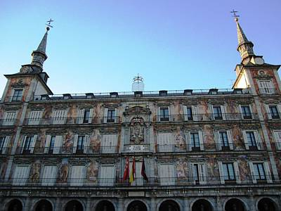Photograph - Plaza Mayor Interior Architecture In Madrid Spain by John Shiron
