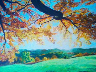 Pleasant Valley In Fall Art Print by Samuel McMullen