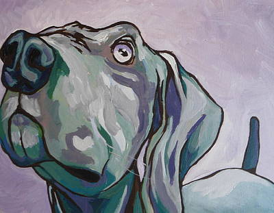 Canine Painting - Please by Sandy Tracey