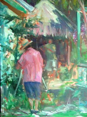 Painting - Plein Air At The Cabana by Berto Ortega