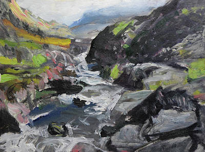 Painting - Plein Air Sketch At Ogwen Snowdonia by Harry Robertson
