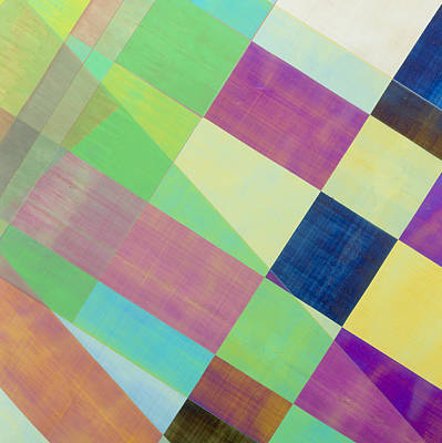 Cellophane Photograph - Plm Of Strips Of Cellophane by Dr Jeremy Burgess