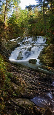 Photograph - Ploddas Smaller Falls by Macrae Images