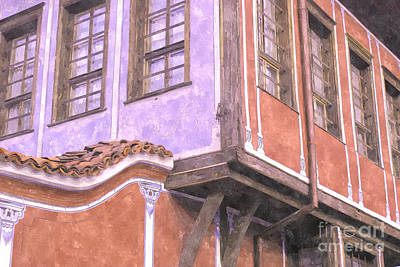 Plovdiv Old Town Art Print by Hristo Hristov