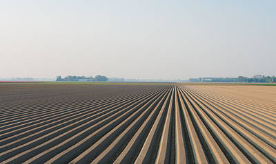 Art Print featuring the photograph Plowed Field by Hans Engbers