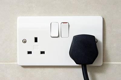 Plug In An Electric Wall Socket Art Print