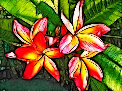 Photograph - Plumeria Fun by Joetta West