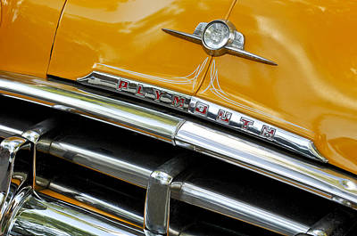 Photograph - Plymouth Grille Emblem by Jill Reger