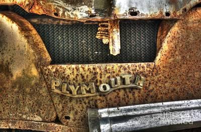Plymouth Logo Relic Art Print by Dan Stone