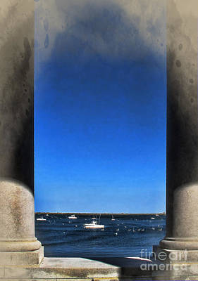 Photograph - Plymouyh Harbor And Columns by Joan  Minchak