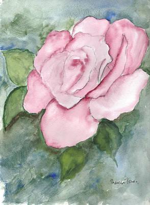 Pnk Rose Art Print by Theresa Jones