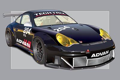 Tech Digital Art - Poc Porsche Gt3 Rsr by Alain Jamar