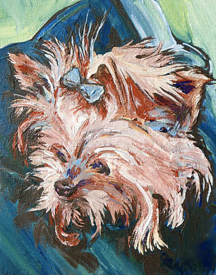 Puppy Painting - Pocket Pal by Sandy Tracey