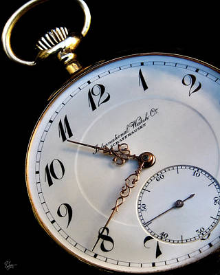 Photograph - Pocket Watch by Endre Balogh