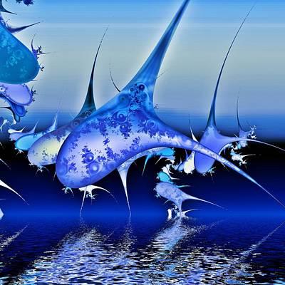 Dolphin Digital Art - Pod by Sharon Lisa Clarke