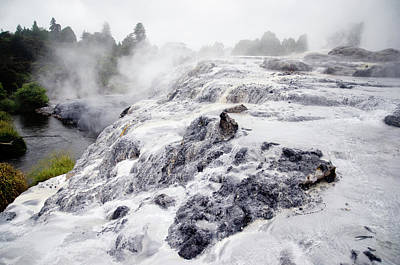 Photograph - Pohutu Geyser At Rotorua-3 by Harry Strharsky