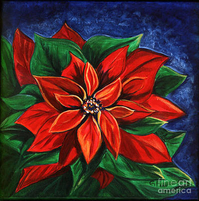 Poinsetta Art Print by Gail Finn