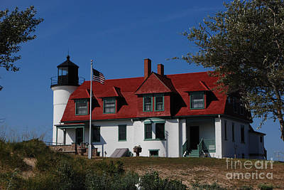 Photograph - Point Betsie Light Station by Grace Grogan