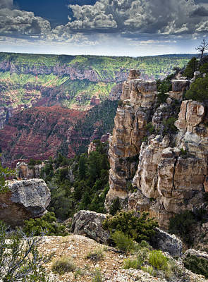 Point Imperial Cliffs Grand Canyon Art Print