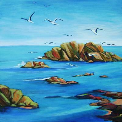 Point Lobos Painting - Point Lobos 2 by Stephanie  Maclean