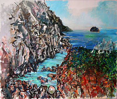 Painting - Point Lobos Whalers Cove by Zolita Sverdlove