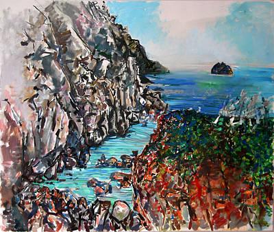 Point Lobos Whalers Cove Art Print by Zolita Sverdlove
