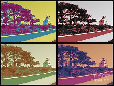 Point Loma Lighthouse Warhol Art Print by RJ Aguilar