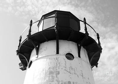 Photograph - Point Montara Lighthouse Beacon - Black And White by Carol Groenen