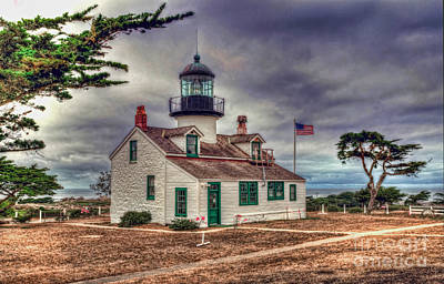 Photograph - Point Pinos Lighthouse by Eddie Yerkish