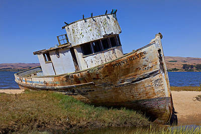 Point Reyes Photograph - Point Reyes Beached Boat by Garry Gay