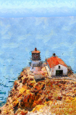 Point Reyes Lighthouse In California . 7d15989 Art Print by Wingsdomain Art and Photography