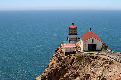 Photograph - Point Reyes Lighthouse In California 7d15994 by Wingsdomain Art and Photography