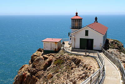 Point Reyes Lighthouse In California 7d16001 Print by Wingsdomain Art and Photography