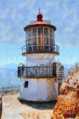 Point Reyes Lighthouse In California . 7d16008 Art Print by Wingsdomain Art and Photography