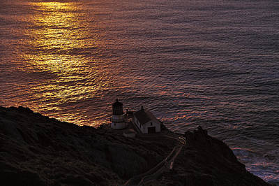 D700 Photograph - Point Reyes Lighthouse Sunset by Richard Leon