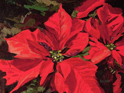 Painting - Pointsettia Flower by J R Baldini