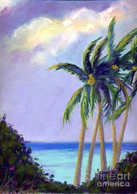 Pastel - Poipu Palms by Janet Biondi