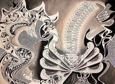 Sepia Ink Mixed Media - Poison Spring by Jason Krause