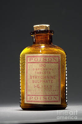 Poison, Strychnine Sulphate, Circa 1910 Art Print by Science Source