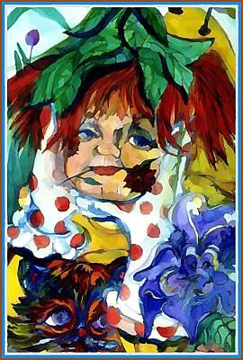 Pokadot Gloves Art Print by Mindy Newman