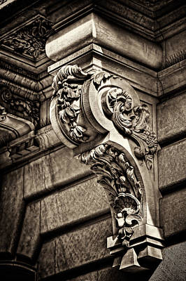 Photograph - Poland Consulate Facade Detail by Val Black Russian Tourchin