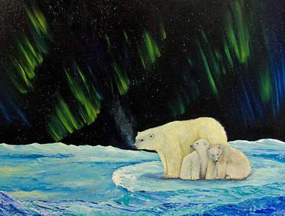 Winter Painting - Polar Cinema by Dee Carpenter