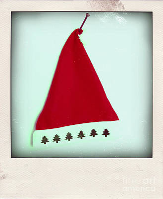 Polaroid Of A Christmas Hat Art Print by Bernard Jaubert