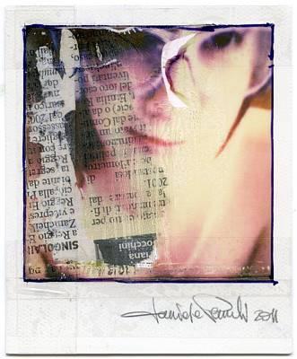 Polaroid Nude Photograph - Polastruttura 1 by Daniele Pezzoli